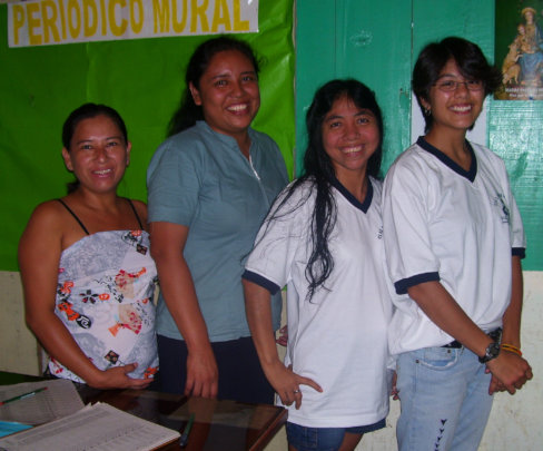 Marissa and co-workers at local health clinic