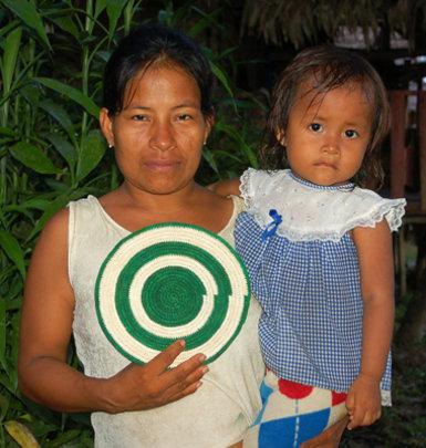 Bora artisan and baby with Amazon hot pad