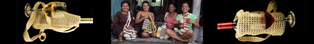 Bora artisans from Nuevo Peru and bottle carriers