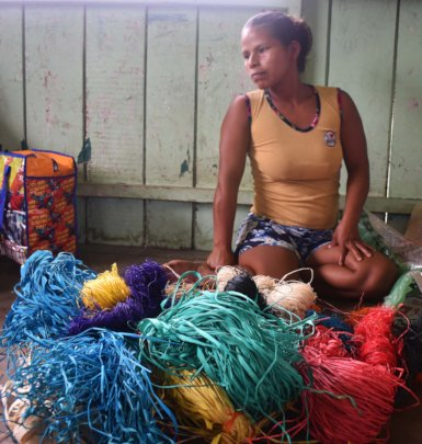 Loida - Artisan group leader at Nueva Vida