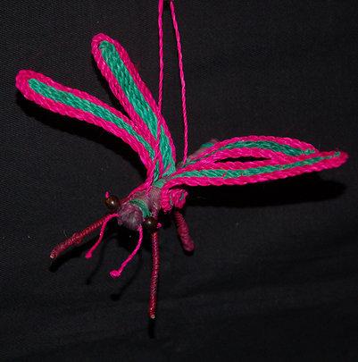 Chambira palm fiber dragonfly. Plowden/CACE
