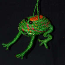Woven frog ornament from Chino / Plowden-CACE