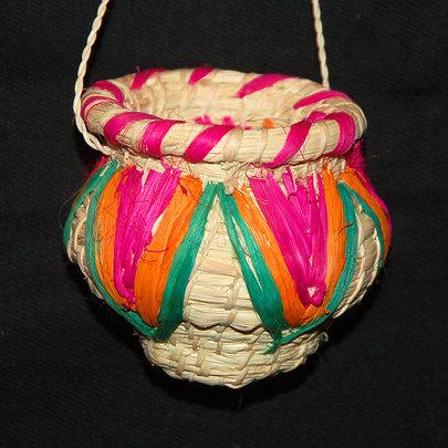 Woven pot ornament. Plowden/CACE