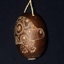 Turtle calabash pod ornament / Plowden-CACE