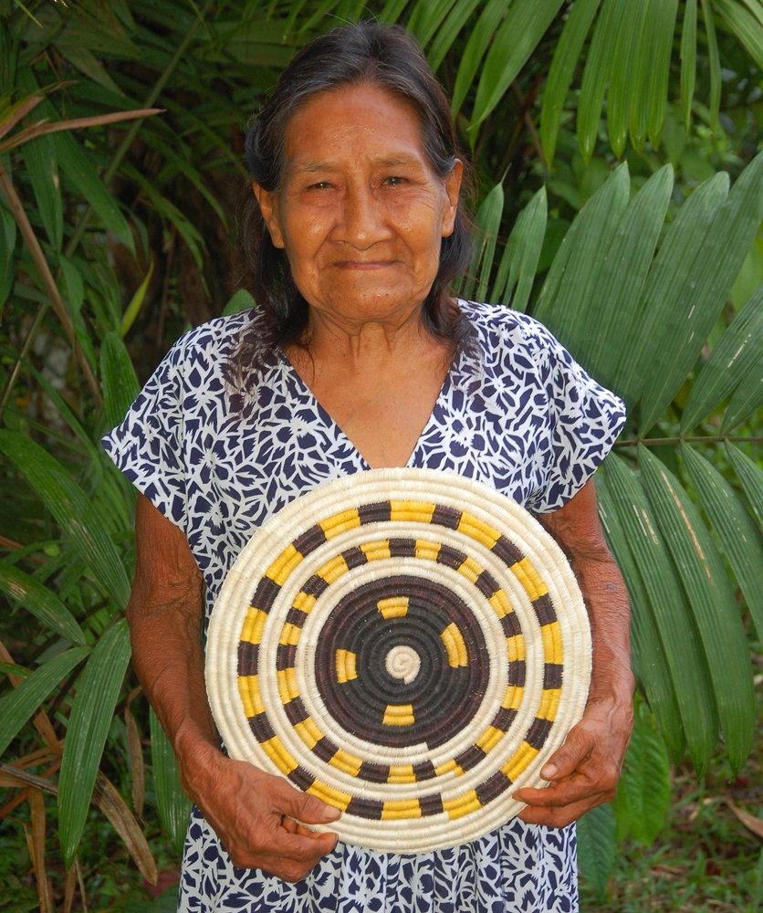 Ernestina and chambira palm fiber placemat