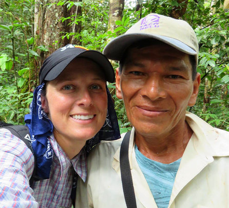 Tracy and Alonzo at Jenaro Herrera field site