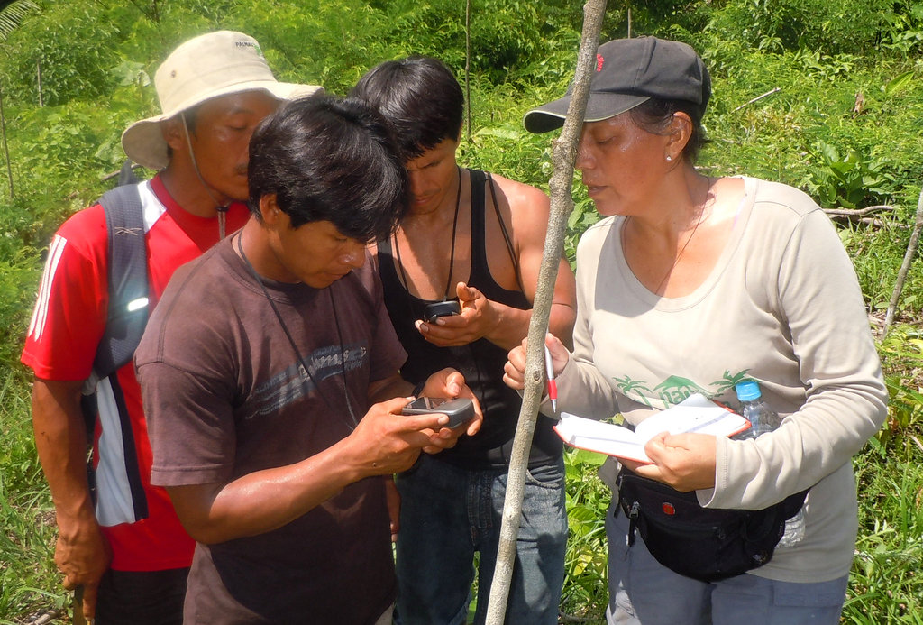 CACE GPS training with Bora natives. Plowden/CACE