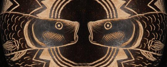 Paiche fish ornament montage. C. Plowden/CACE