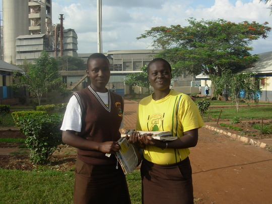 Girls attending secondary school and thriving!