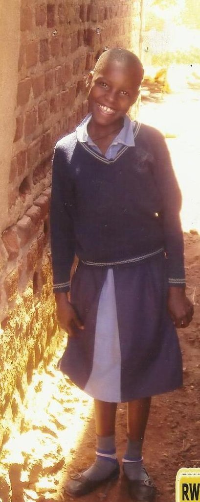 Young girl going to school in her uniform!