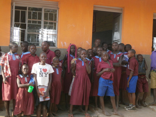 Children at Kavule school supported by project
