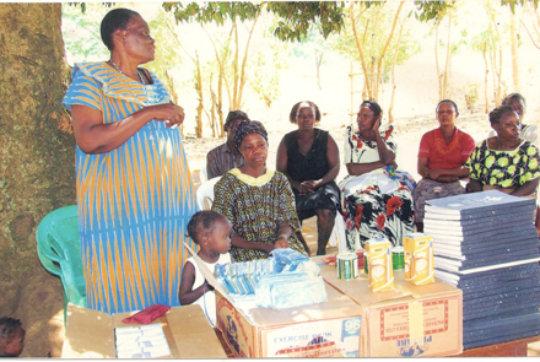 Preparing the materials for school children