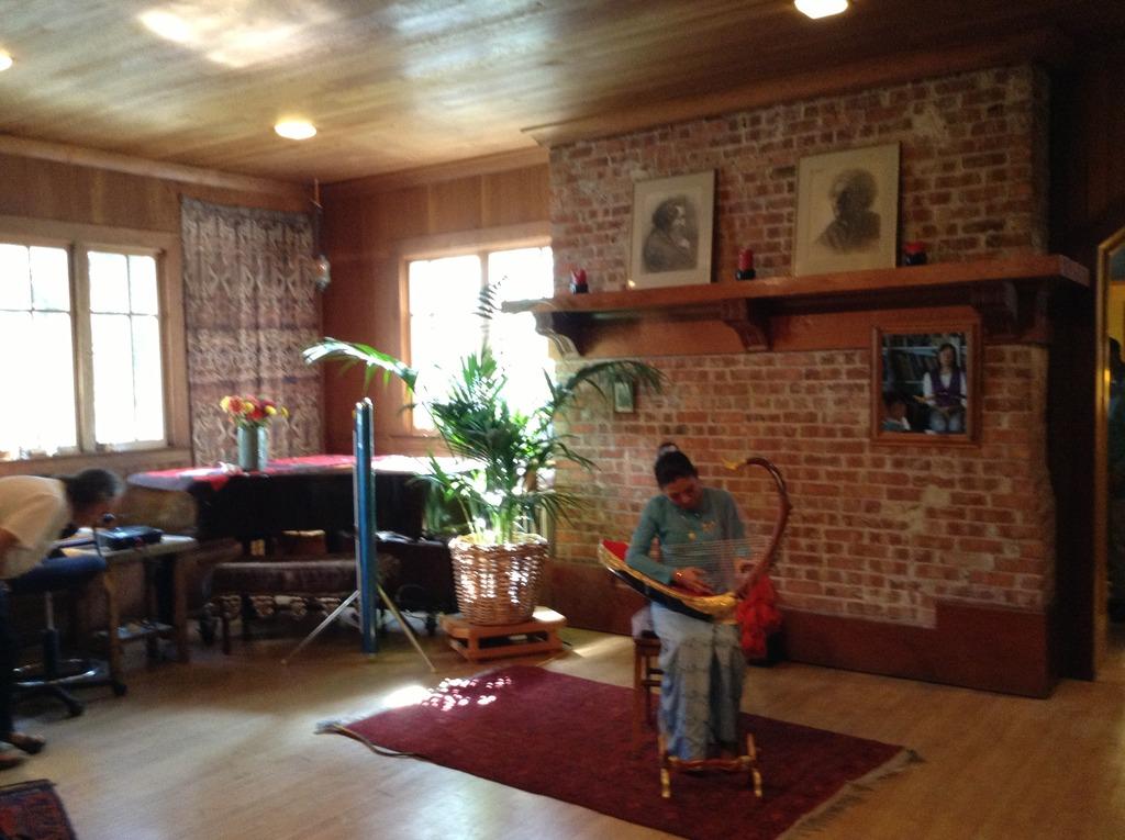 Ms Suu Wei delights with the Burmese harp