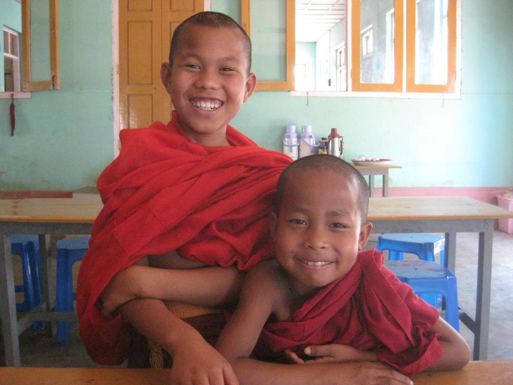 Novice monks at Asia Light Monastery