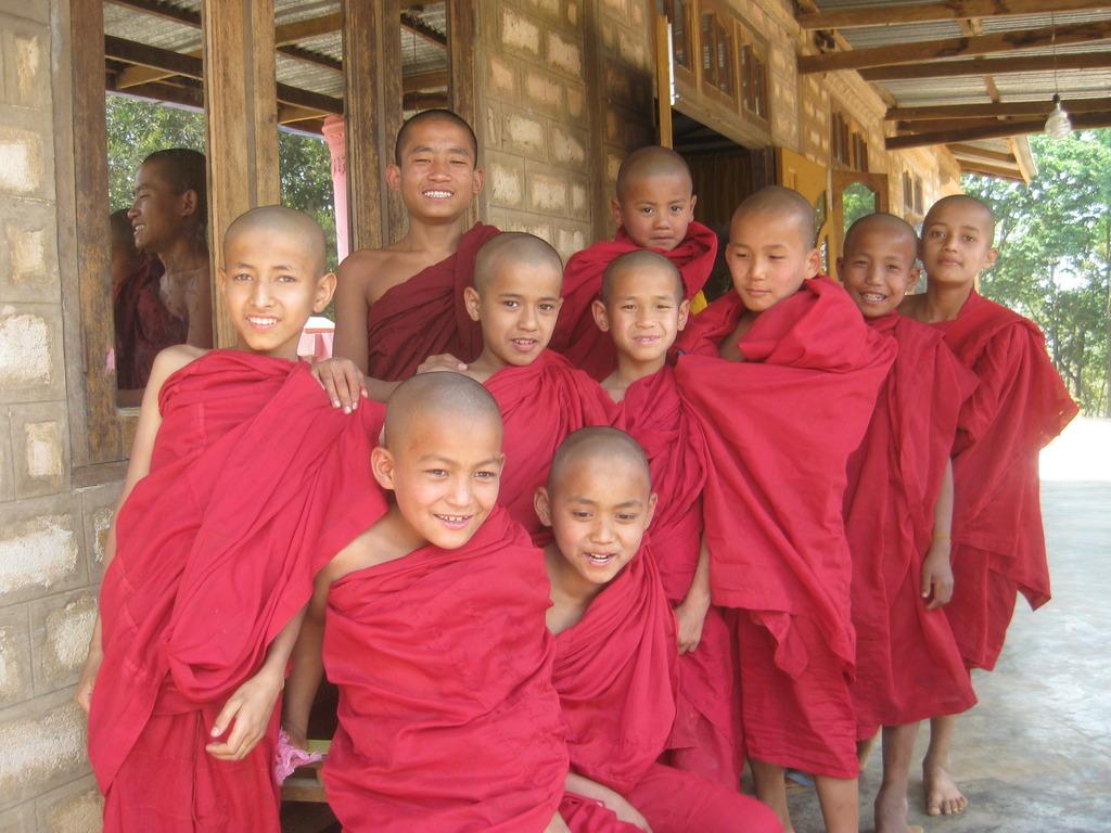 Young novice monks at Parami monastery