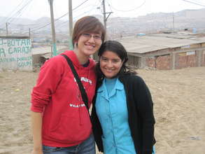 Cindy with Health Worker from Centro Mi Peru
