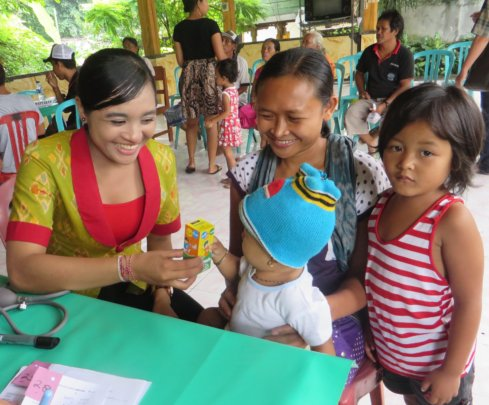 Mobile Clinic Coordinator with clients