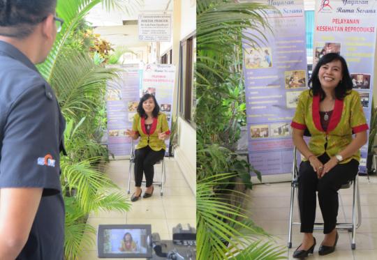 Dr Sari interviewed by SCTV