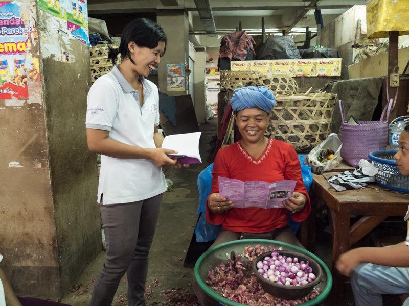 A YRS nurse shares information with a vendor