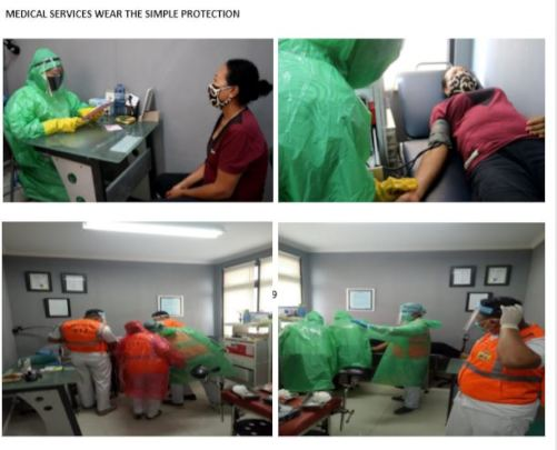 Medical Services Wear The Simple Protection Tools