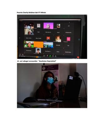 Charity webinar participants from PT Mitrais