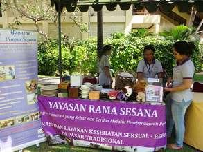 Fundraising at Sunday Market in Sanur