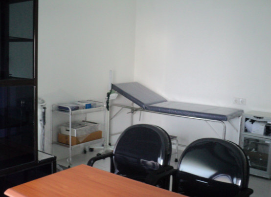 Examination room at the new Sanur clinic