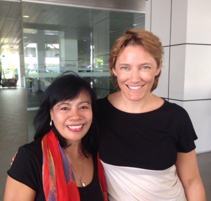 Dr Sari and Anne Bendt in Singapore
