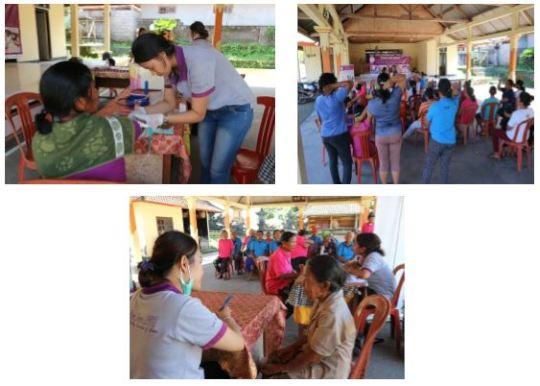 Mobile Clinic services at Apuan village