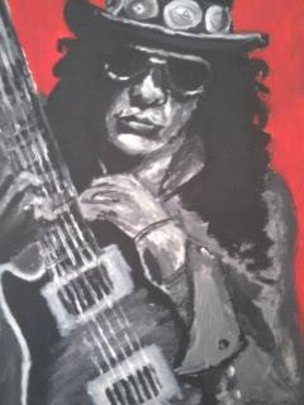 Slash - by Michal Seres (11years old) acrylic