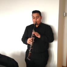 Jarko playing his new clarinet