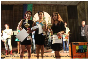 Kamila gains 2nd place at a singing competition
