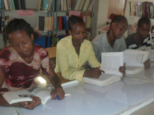 Scholarship awardees studying