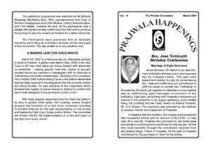 Prajwala monthly news bulletin (PDF)