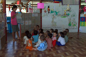 Nursery class at Agape Orphanage & Learning Center