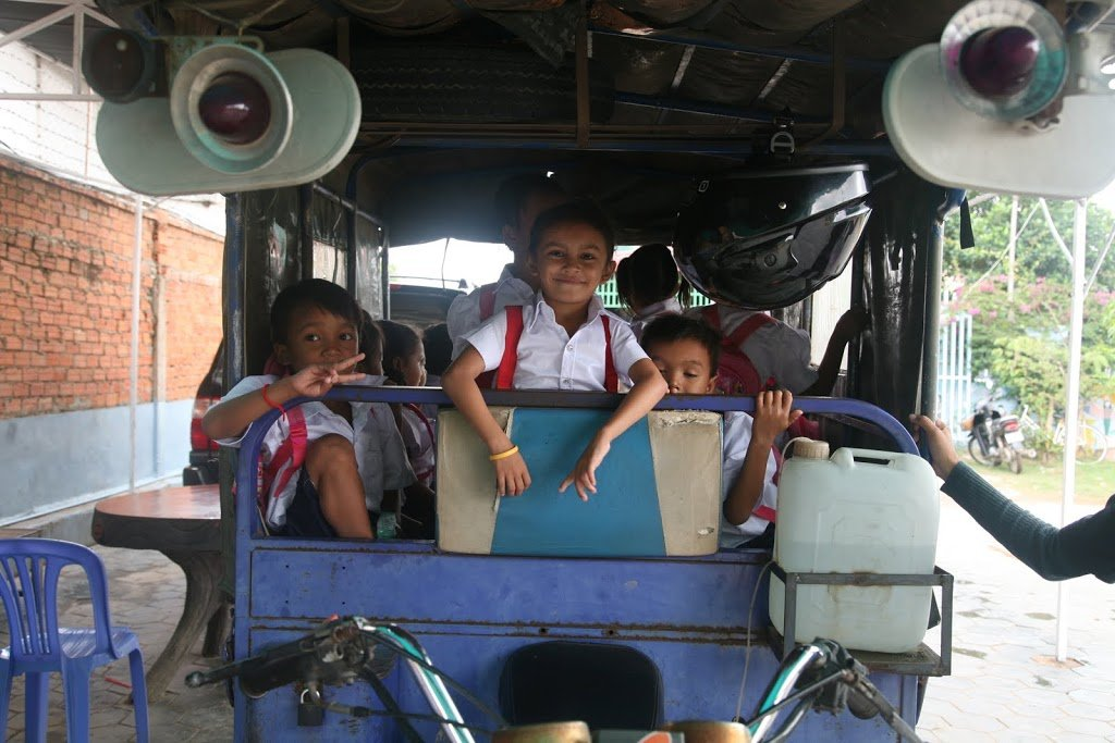 Buy a Bus for Cambodian Students