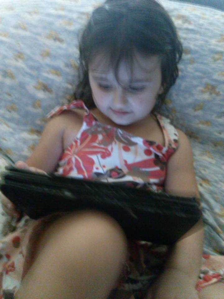 Courtney enjoys her iPad!