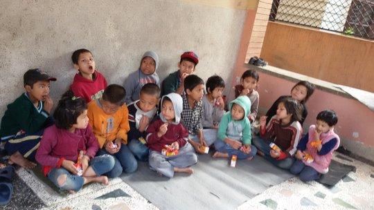 Kids at Sarita Children Home Kathmandu