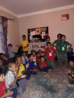 Kids enjoying dancing