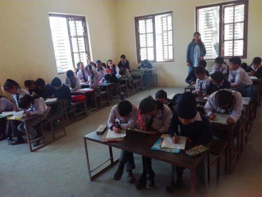 Students attending final exam