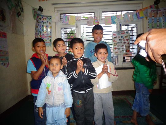 Boys at  the orphanage