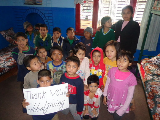 Kids  send their thanks   to  all their supporters