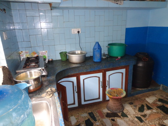 Kitchen at  the orphanage