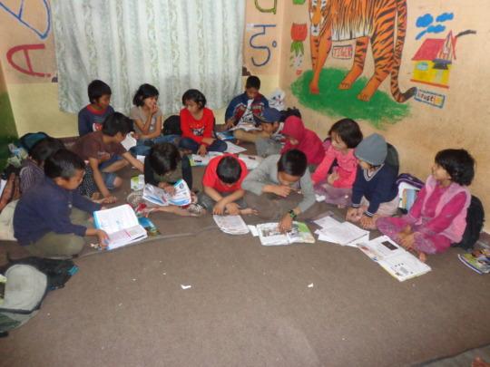 Kids preparing for their exam