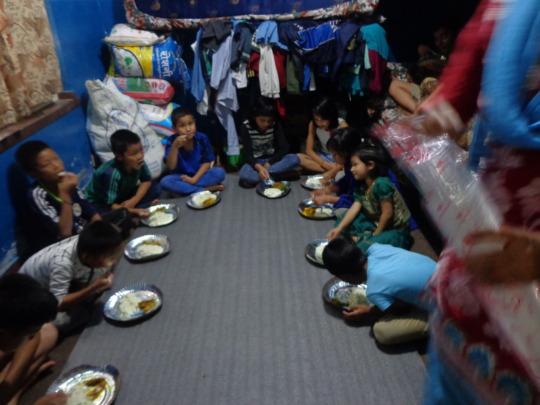 kids celebrating Teej festival