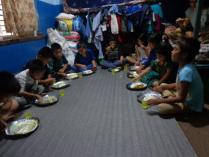 Festival Celebration at the orphanage.