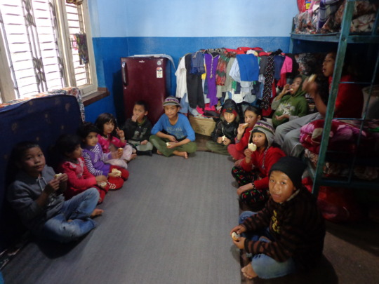 New year celebration at the orphanage