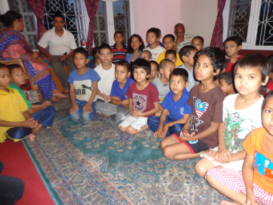 The kids at the orphanage