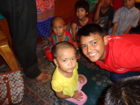 One of  the smallest  girls at the orphanage
