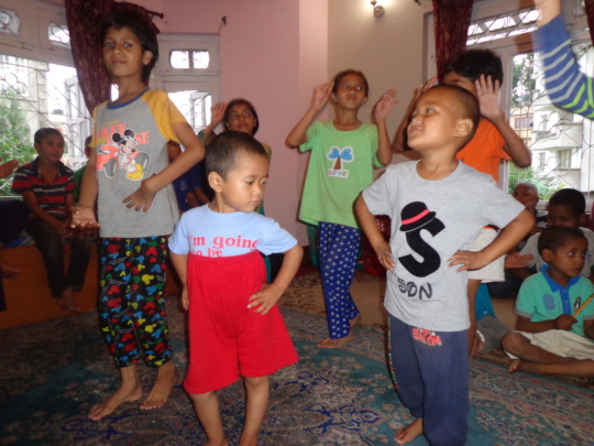 After Distribution, giving farewell to us(Dancing)